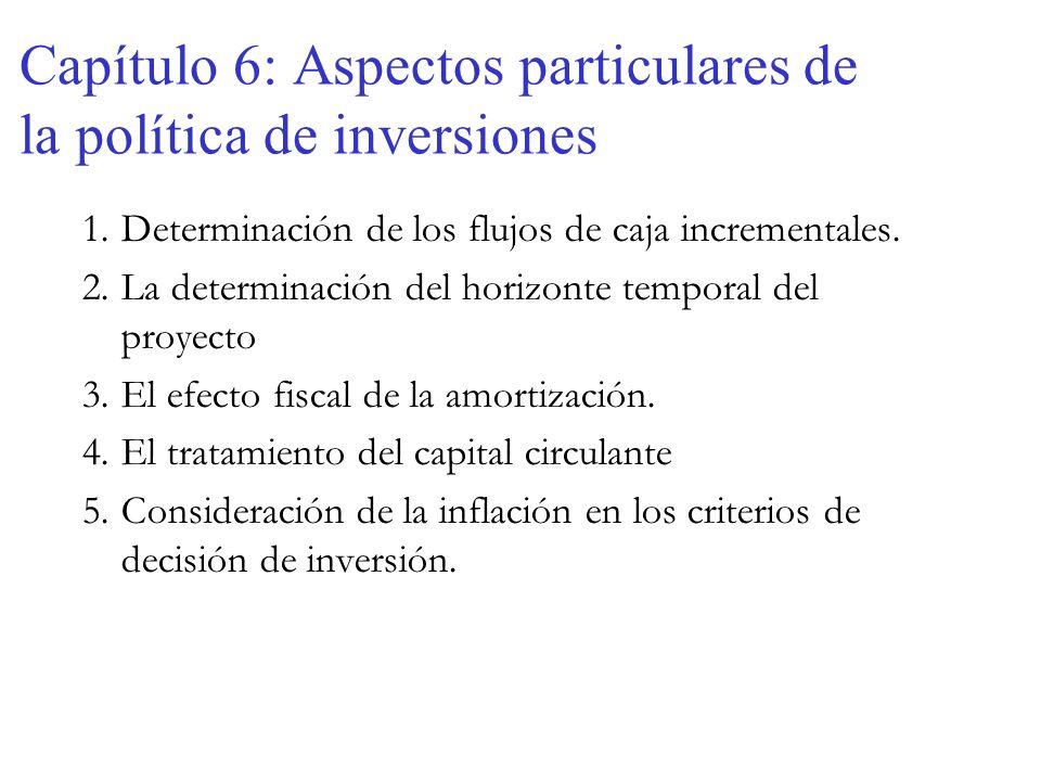 Capítulo 6: Aspectos particulares de la política de inversiones