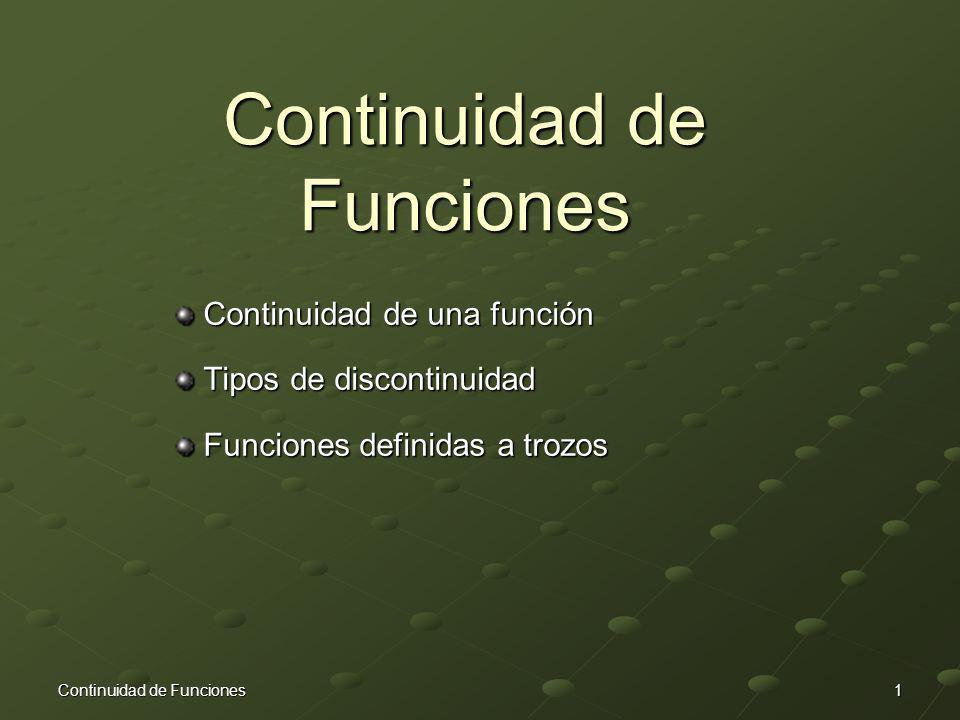 Continuidad de Funciones