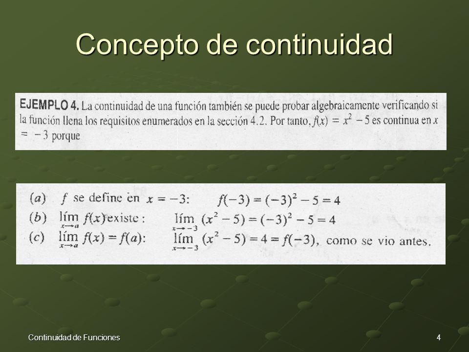Concepto de continuidad
