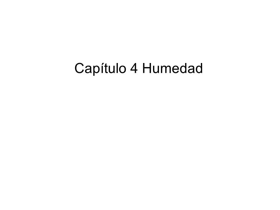 Capítulo 4 Humedad