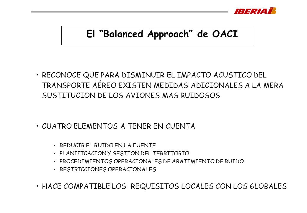 El Balanced Approach de OACI