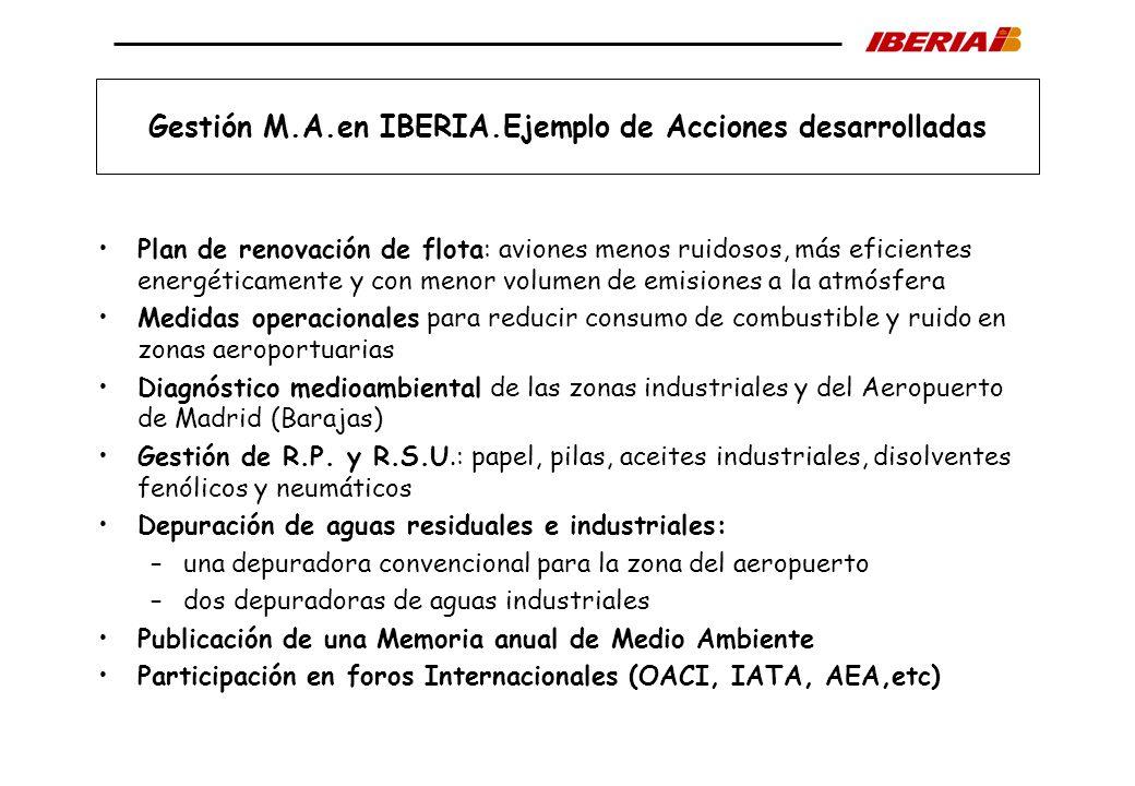 Gestión M.A.en IBERIA.Ejemplo de Acciones desarrolladas