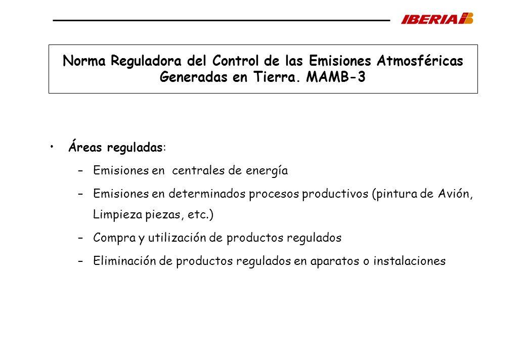 Norma Reguladora del Control de las Emisiones Atmosféricas Generadas en Tierra. MAMB-3