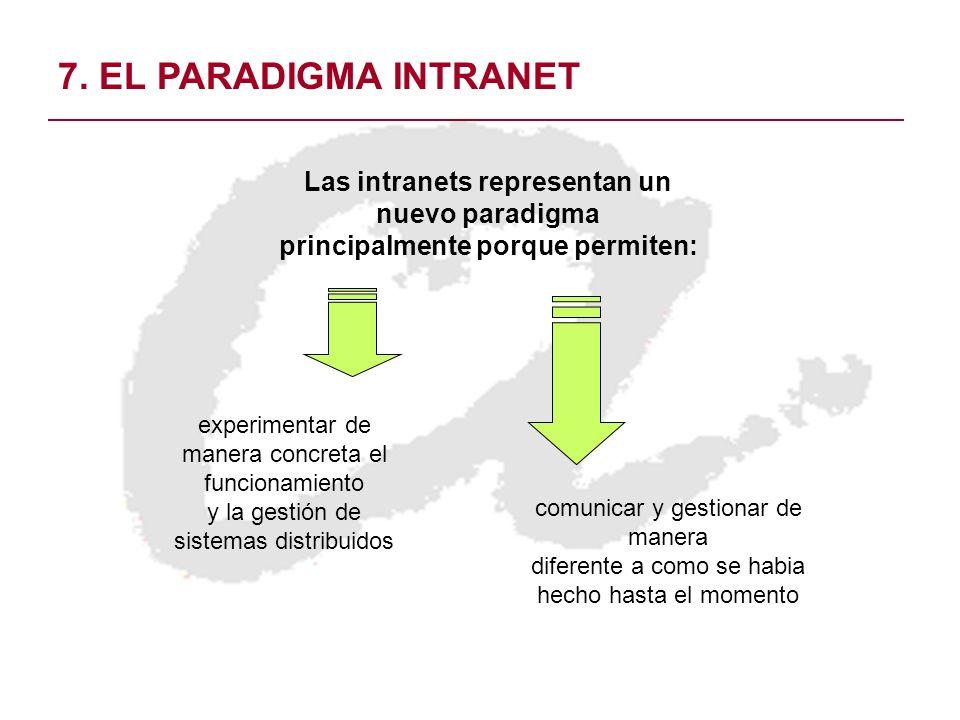 Las intranets representan un principalmente porque permiten: