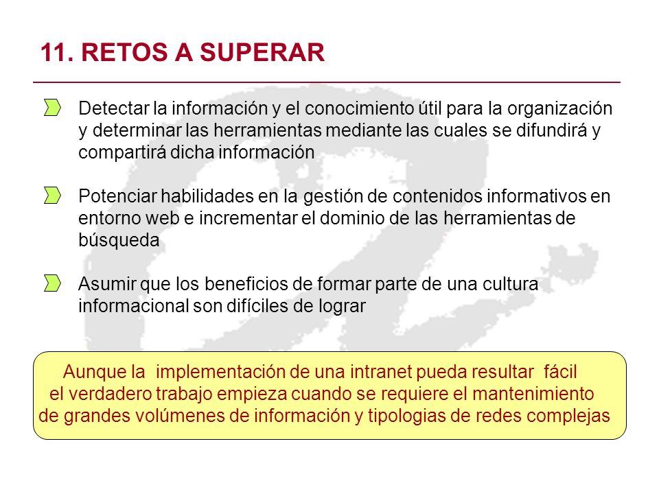 11. RETOS A SUPERAR