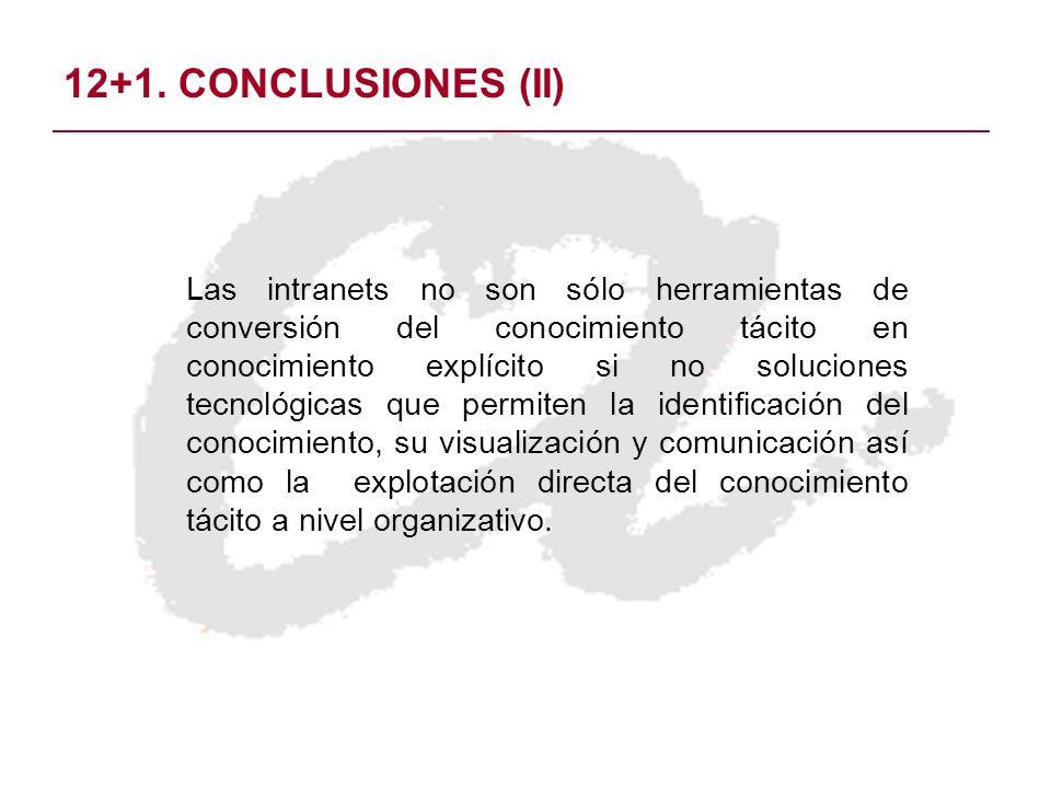 12+1. CONCLUSIONES (II)