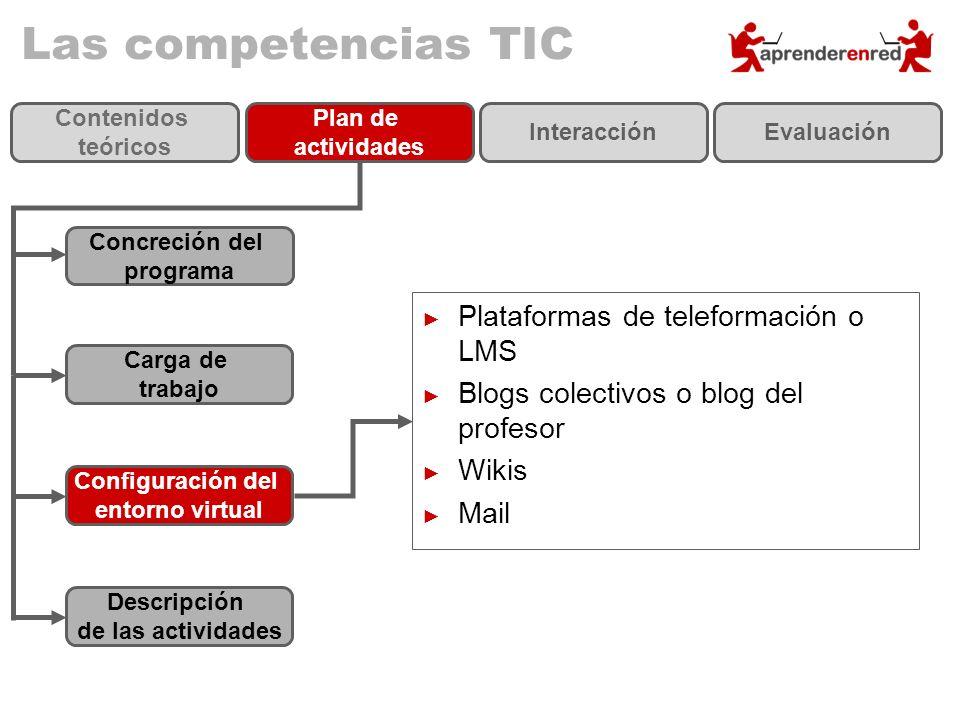 Las competencias TIC Plataformas de teleformación o LMS
