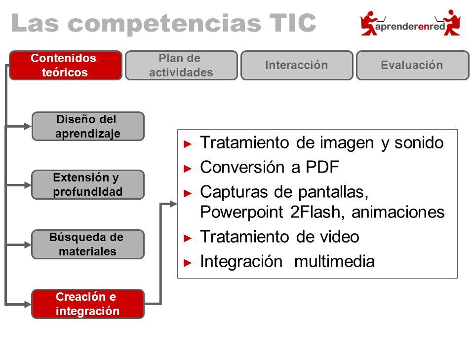 Las competencias TIC Tratamiento de imagen y sonido Conversión a PDF