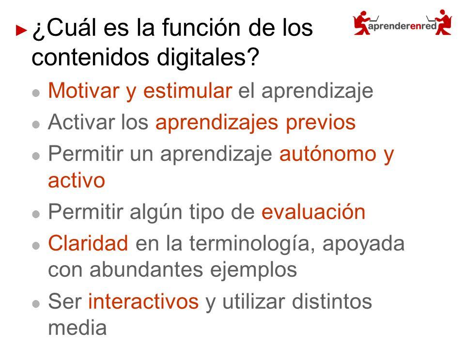 ¿Cuál es la función de los contenidos digitales