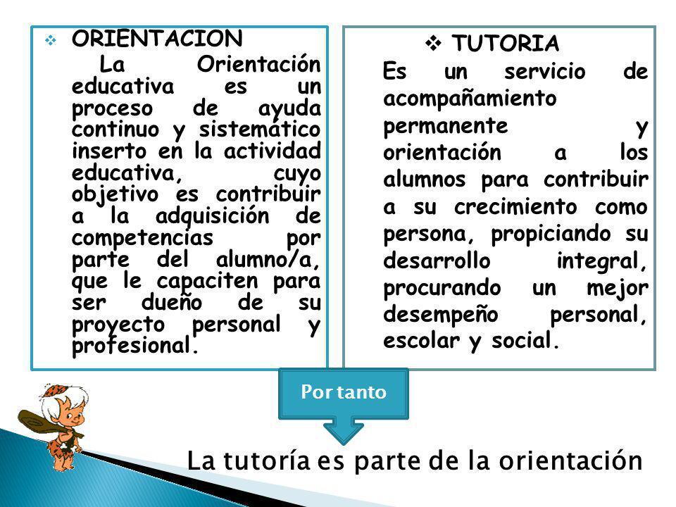 La tutoría es parte de la orientación