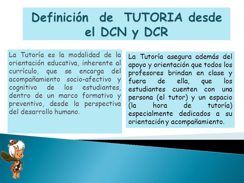 Definición de TUTORIA desde el DCN y DCR