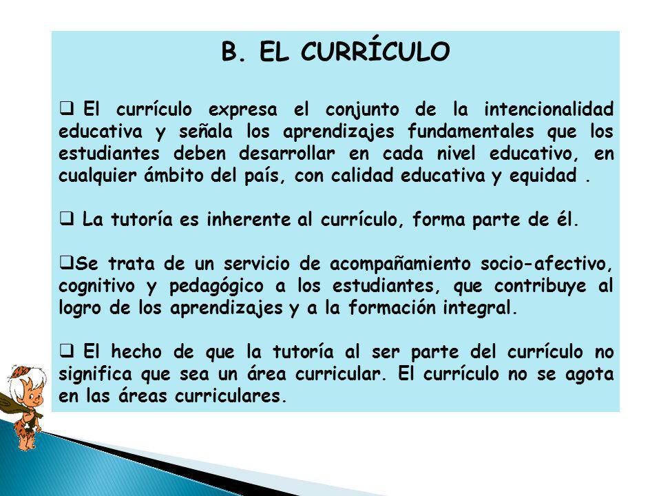 B. EL CURRÍCULO