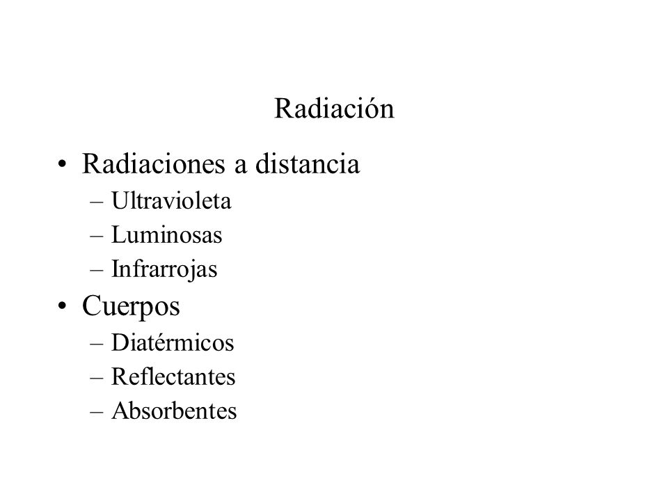 Radiaciones a distancia