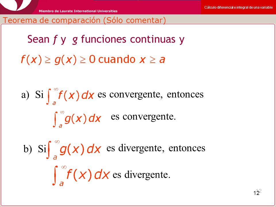Teorema de comparación (Sólo comentar)