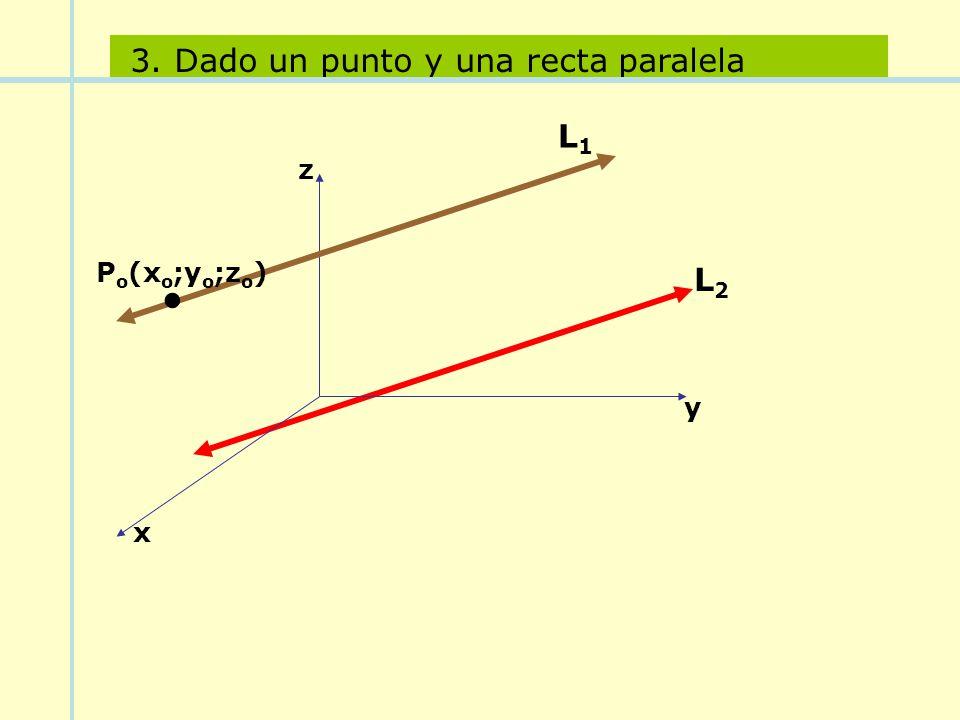 3. Dado un punto y una recta paralela