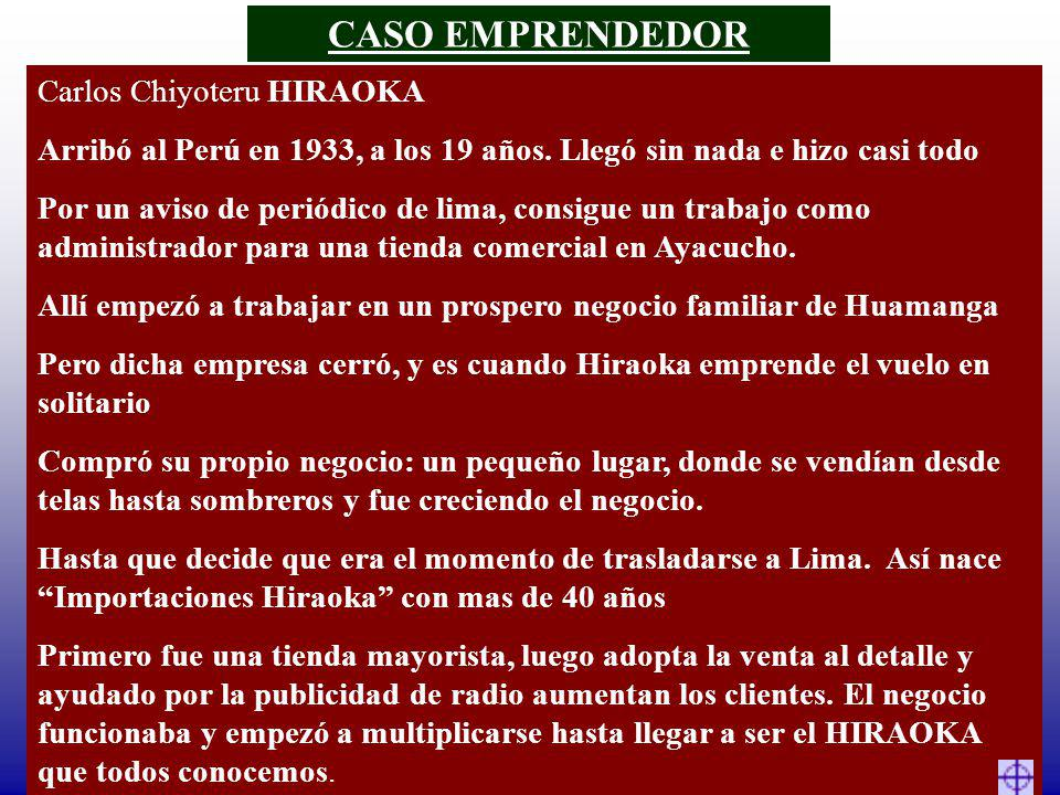 CASO EMPRENDEDOR Carlos Chiyoteru HIRAOKA