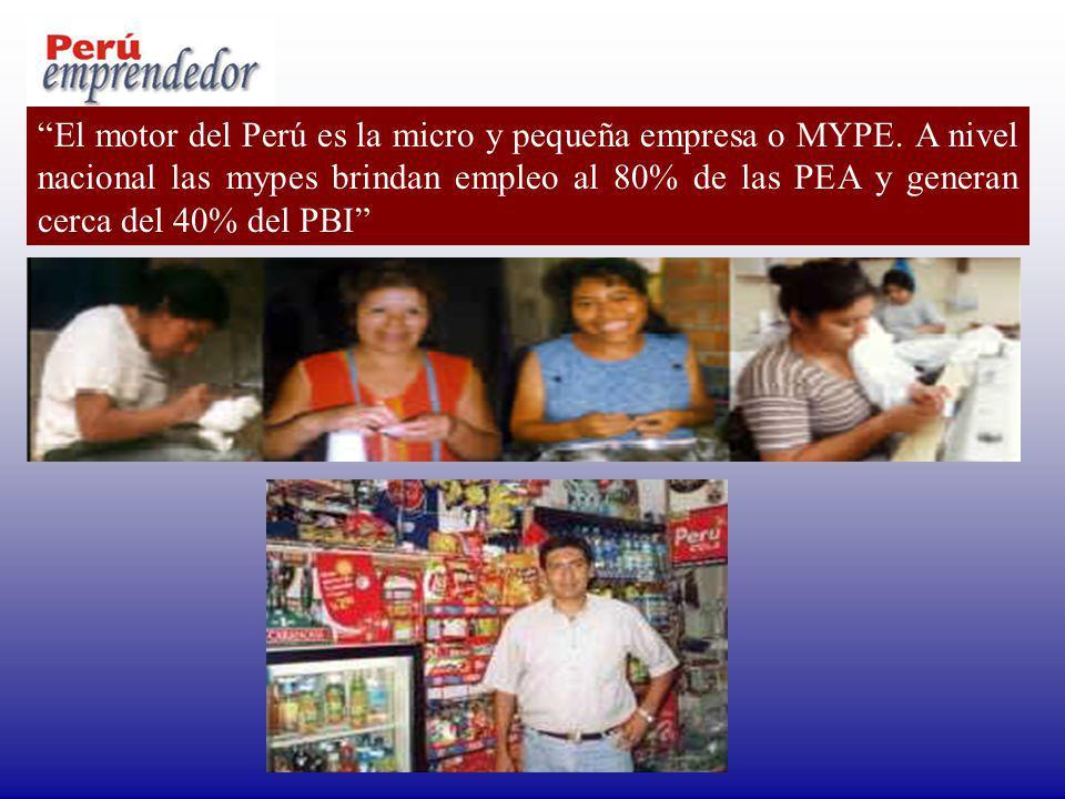 El motor del Perú es la micro y pequeña empresa o MYPE