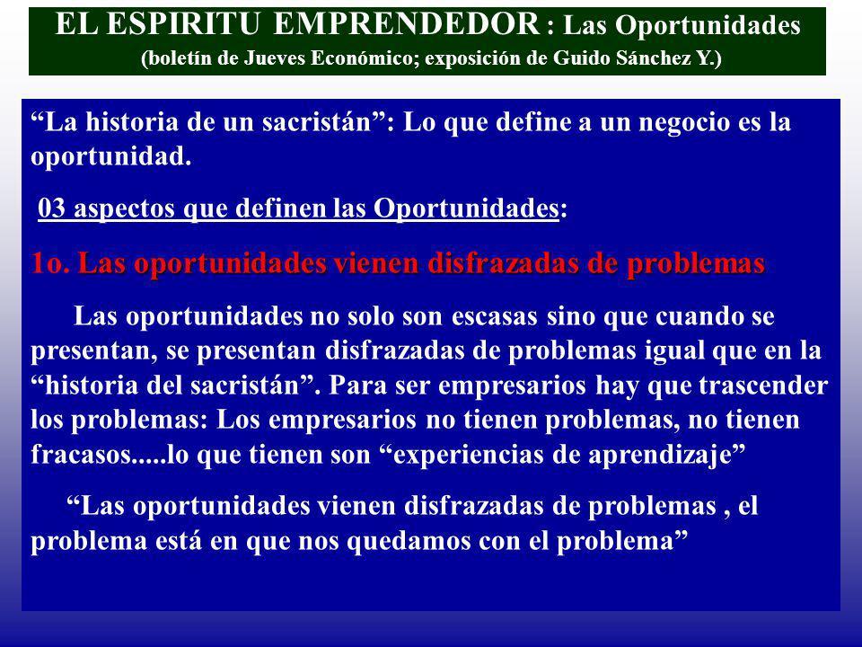 EL ESPIRITU EMPRENDEDOR : Las Oportunidades