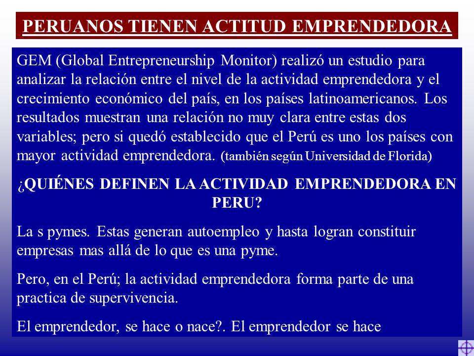 PERUANOS TIENEN ACTITUD EMPRENDEDORA