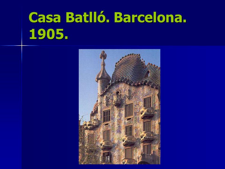 Casa Batlló. Barcelona. 1905.