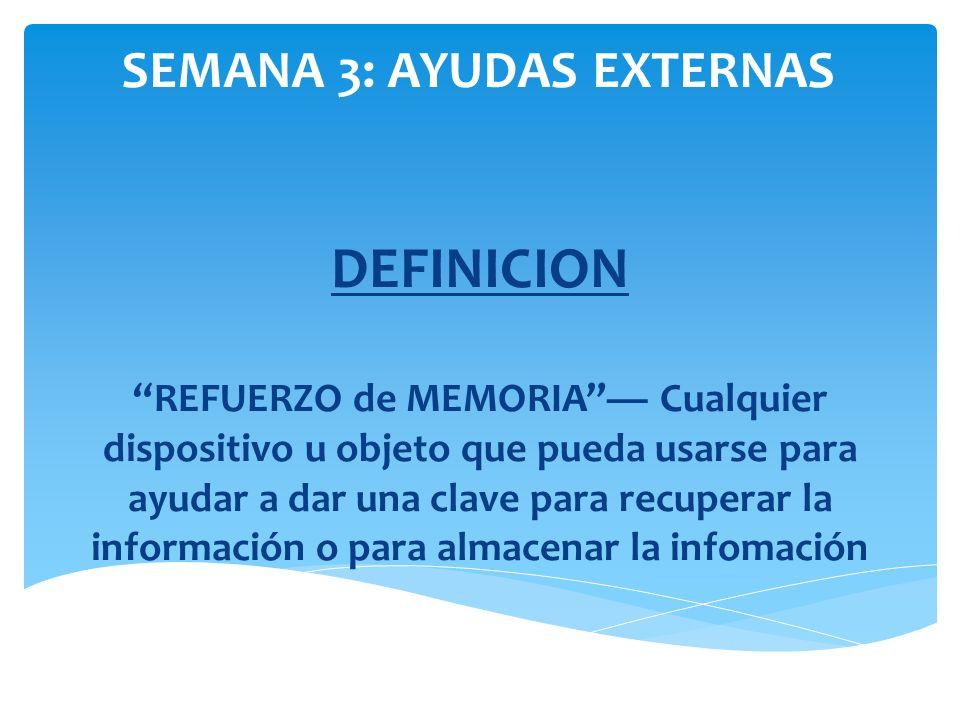 SEMANA 3: AYUDAS EXTERNAS