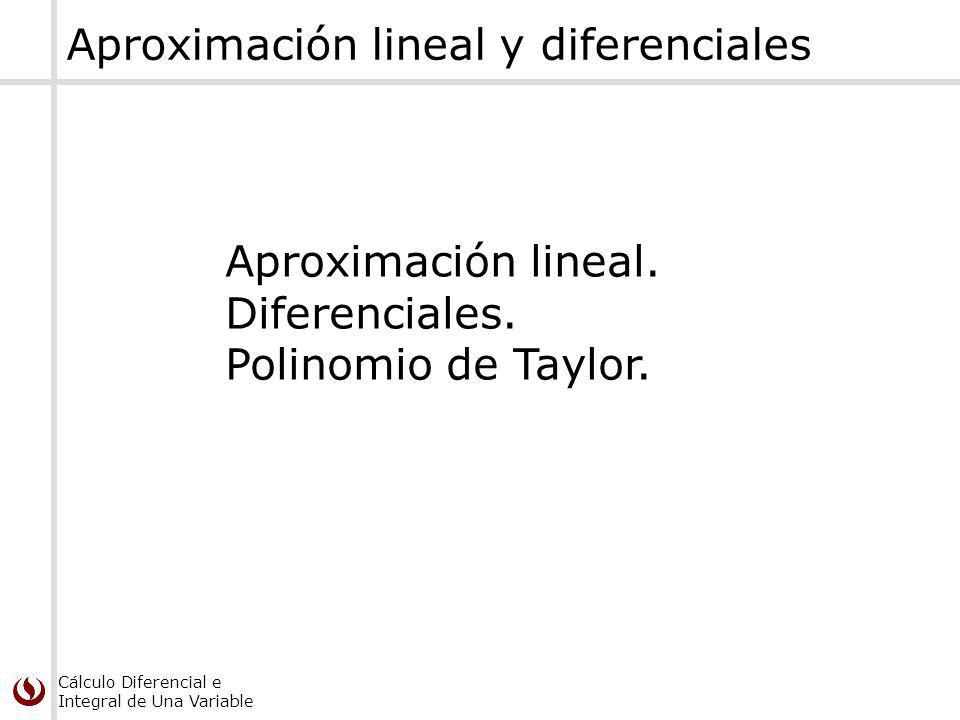 Aproximación lineal y diferenciales