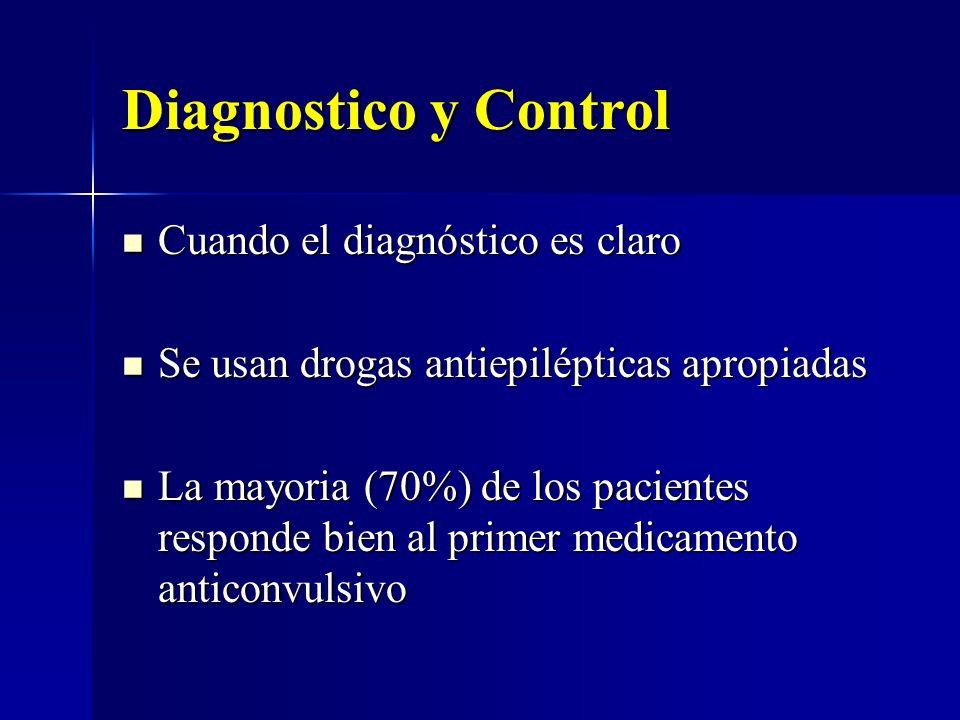 Diagnostico y Control Cuando el diagnóstico es claro