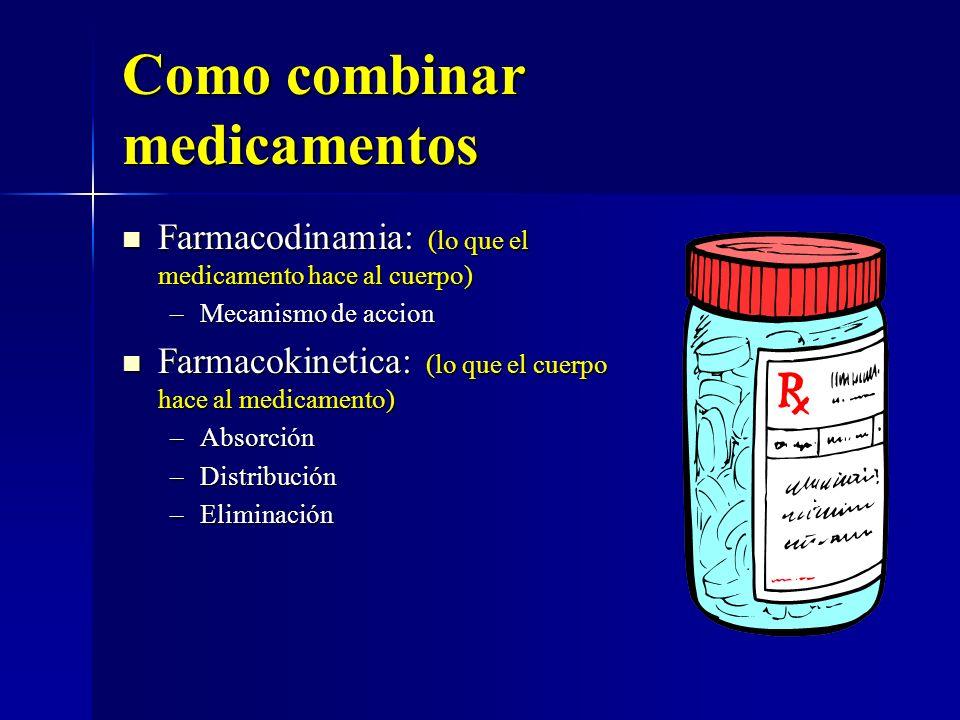 Como combinar medicamentos