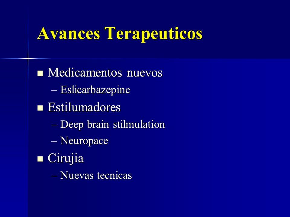 Avances Terapeuticos Medicamentos nuevos Estilumadores Cirujia