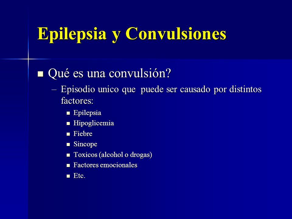 Epilepsia y Convulsiones