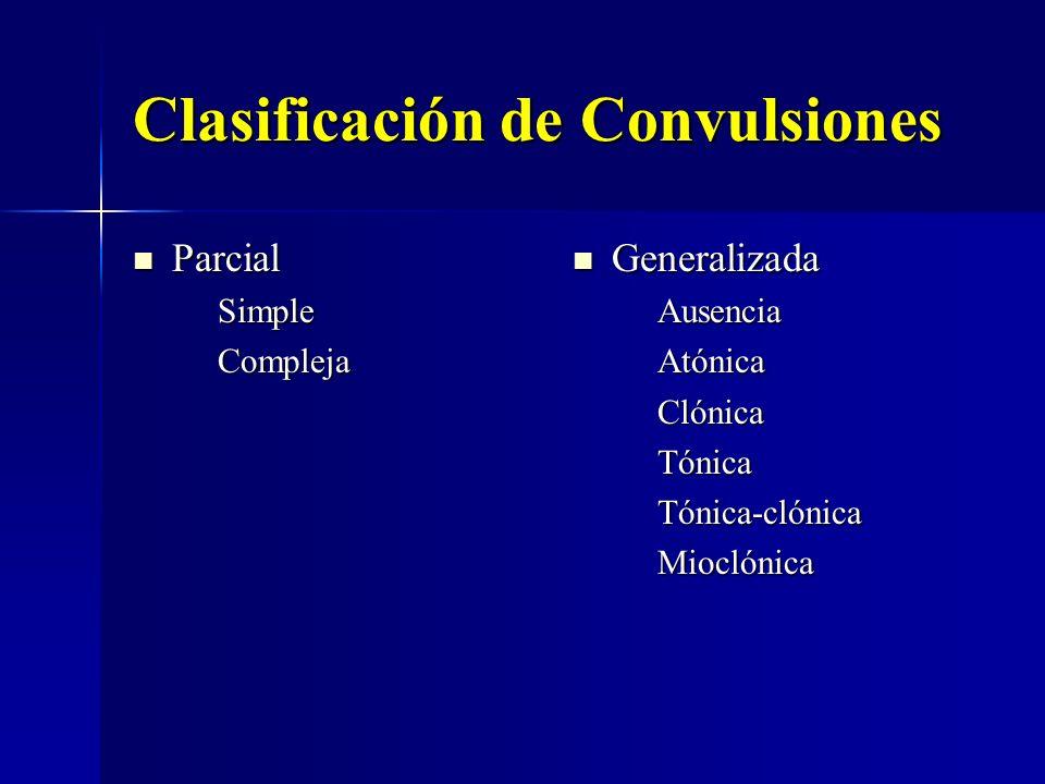Clasificación de Convulsiones