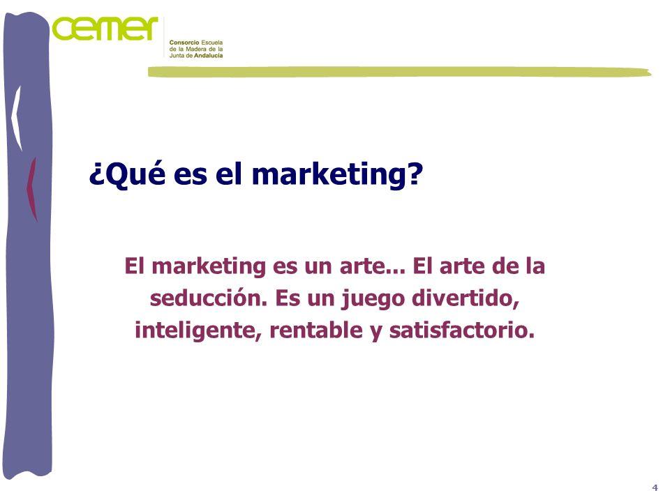 ¿Qué es el marketing El marketing es un arte... El arte de la