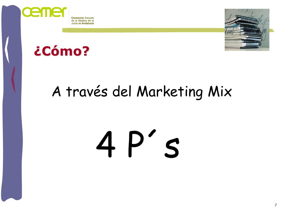 ¿Cómo A través del Marketing Mix 4 P´s