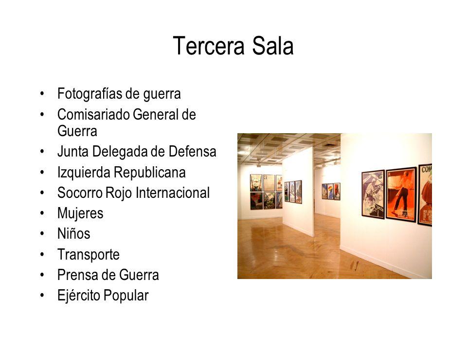 Tercera Sala Fotografías de guerra Comisariado General de Guerra