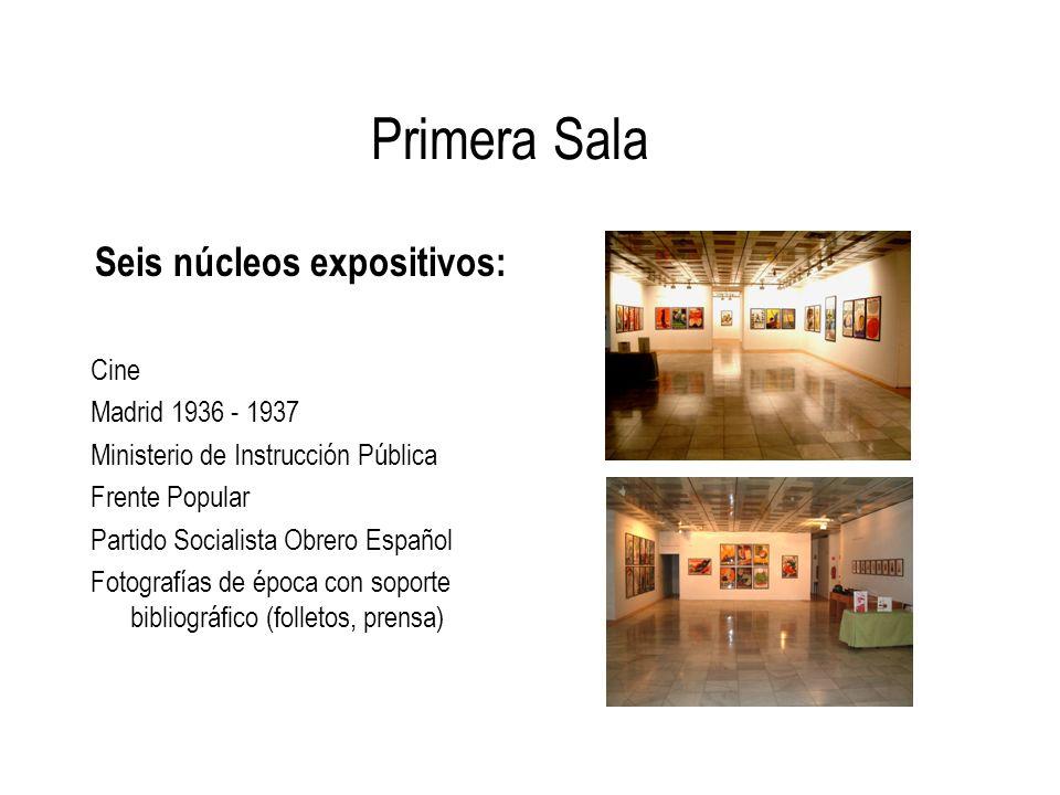 Seis núcleos expositivos: