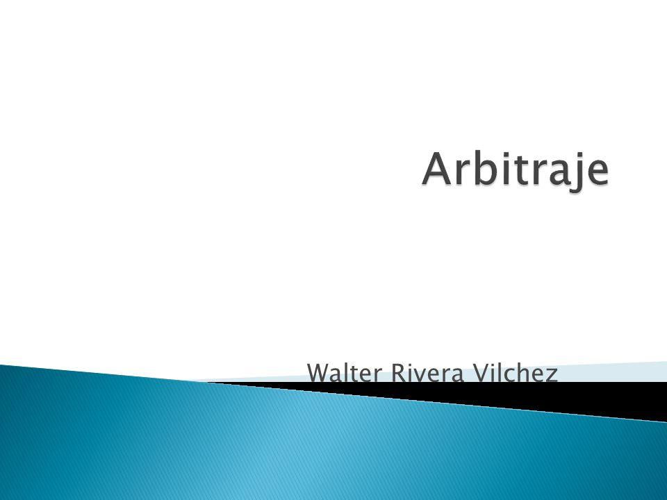 Arbitraje Walter Rivera Vilchez