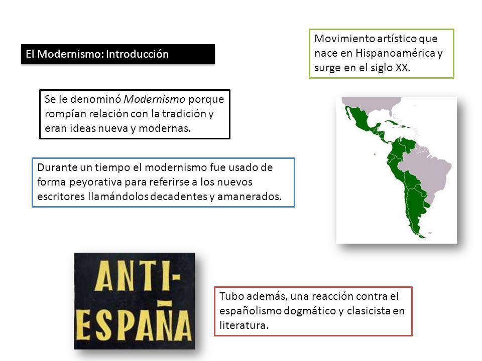 Movimiento artístico que nace en Hispanoamérica y surge en el siglo XX.