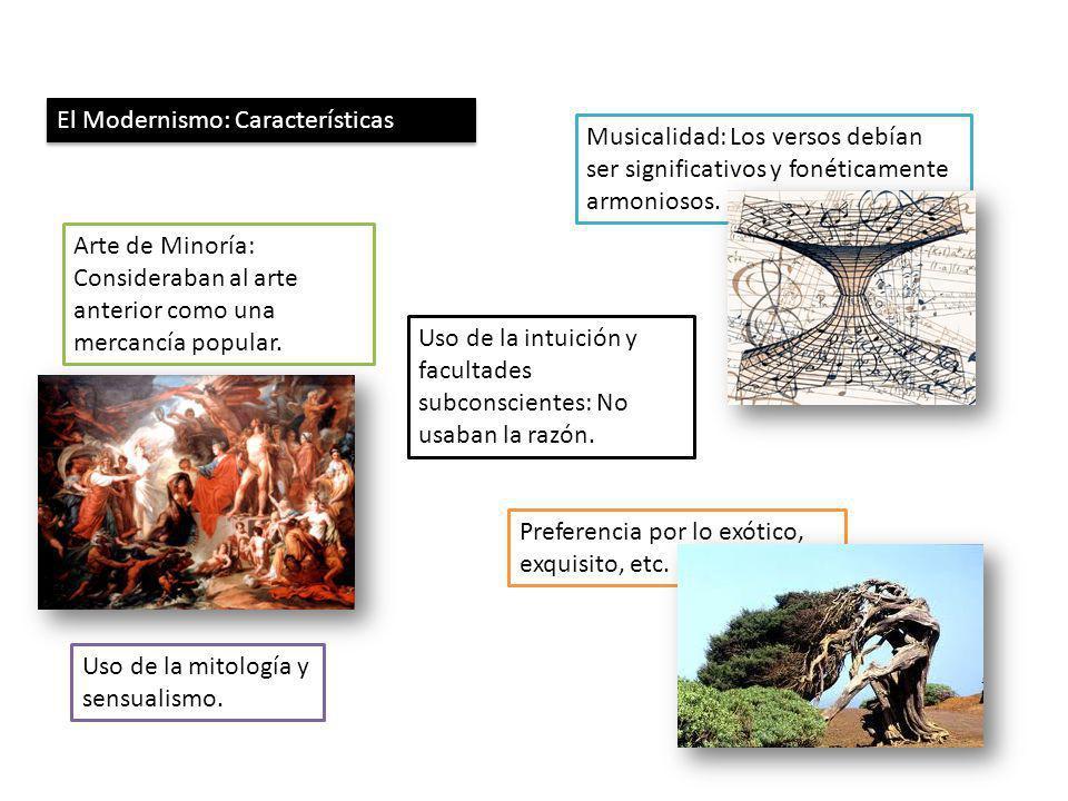 El Modernismo: Características