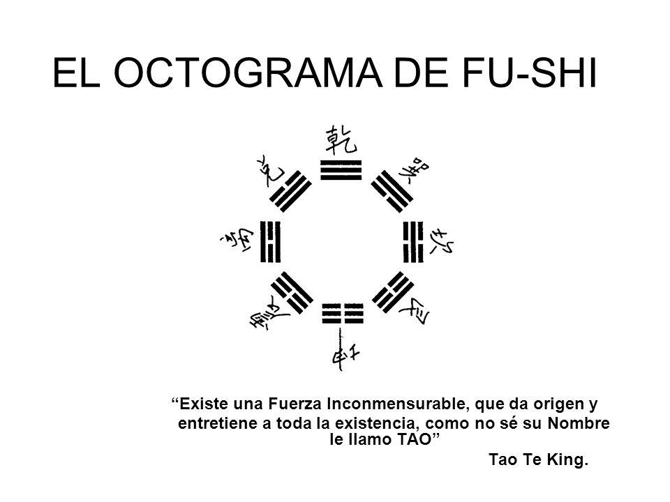 EL OCTOGRAMA DE FU-SHI Existe una Fuerza Inconmensurable, que da origen y. entretiene a toda la existencia, como no sé su Nombre le llamo TAO