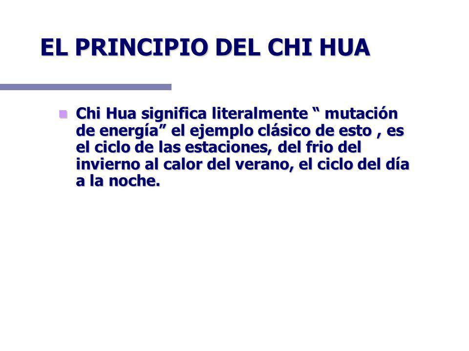 EL PRINCIPIO DEL CHI HUA