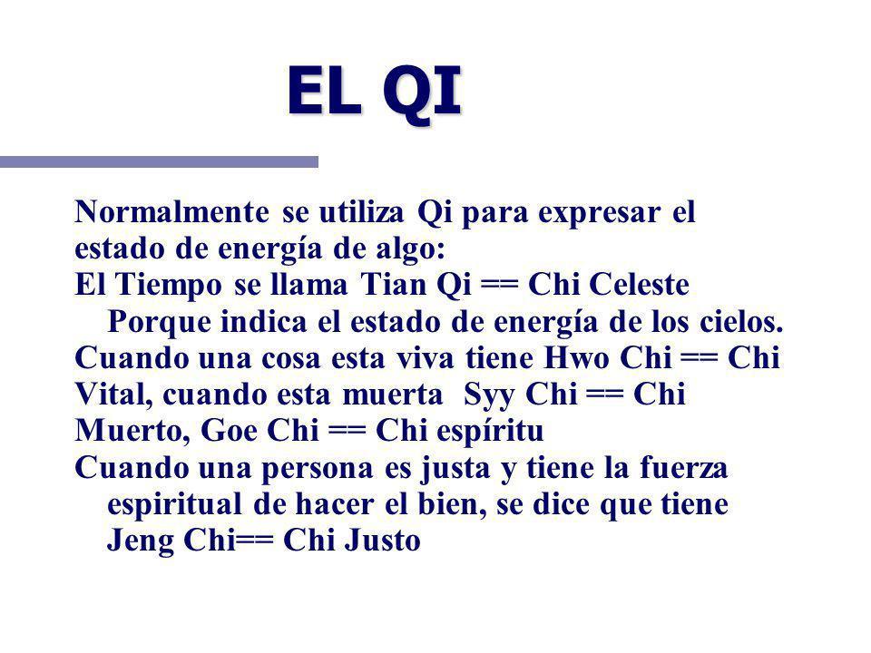 EL QI Normalmente se utiliza Qi para expresar el