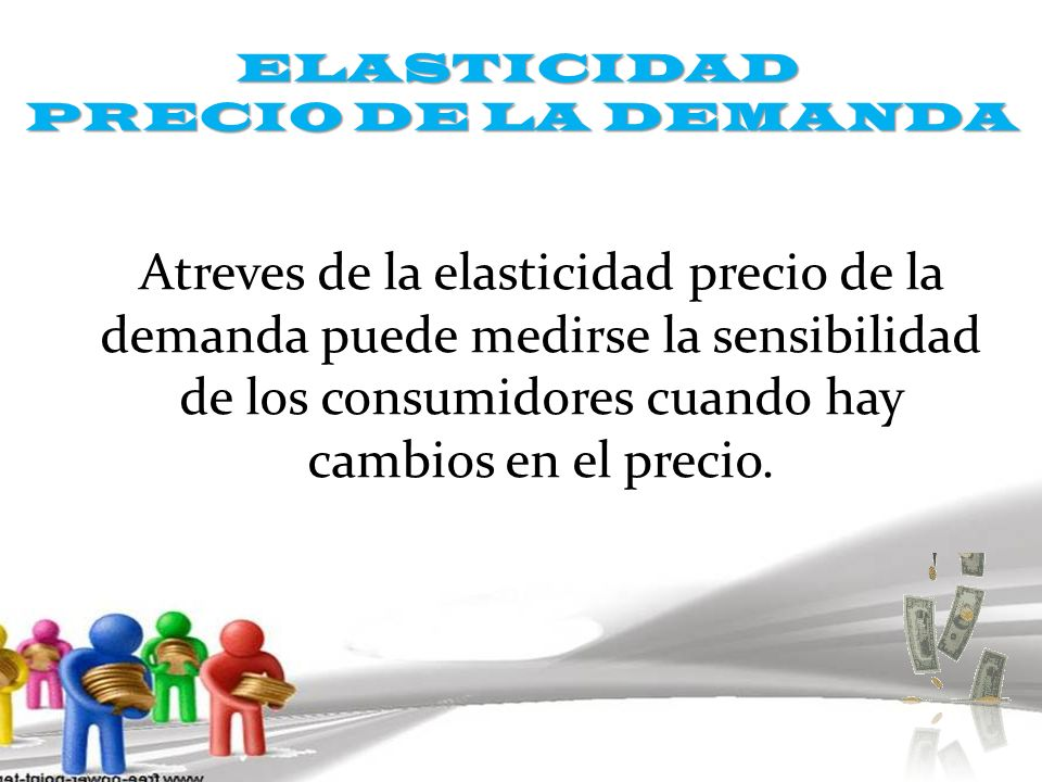 ELASTICIDAD PRECIO DE LA DEMANDA.