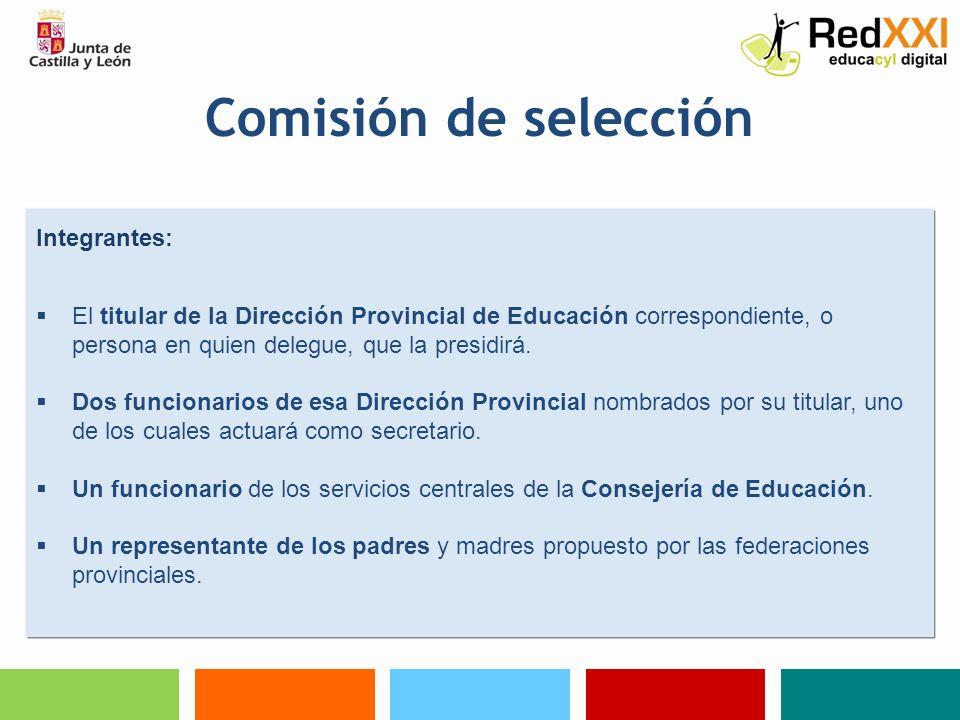 Comisión de selección Integrantes:
