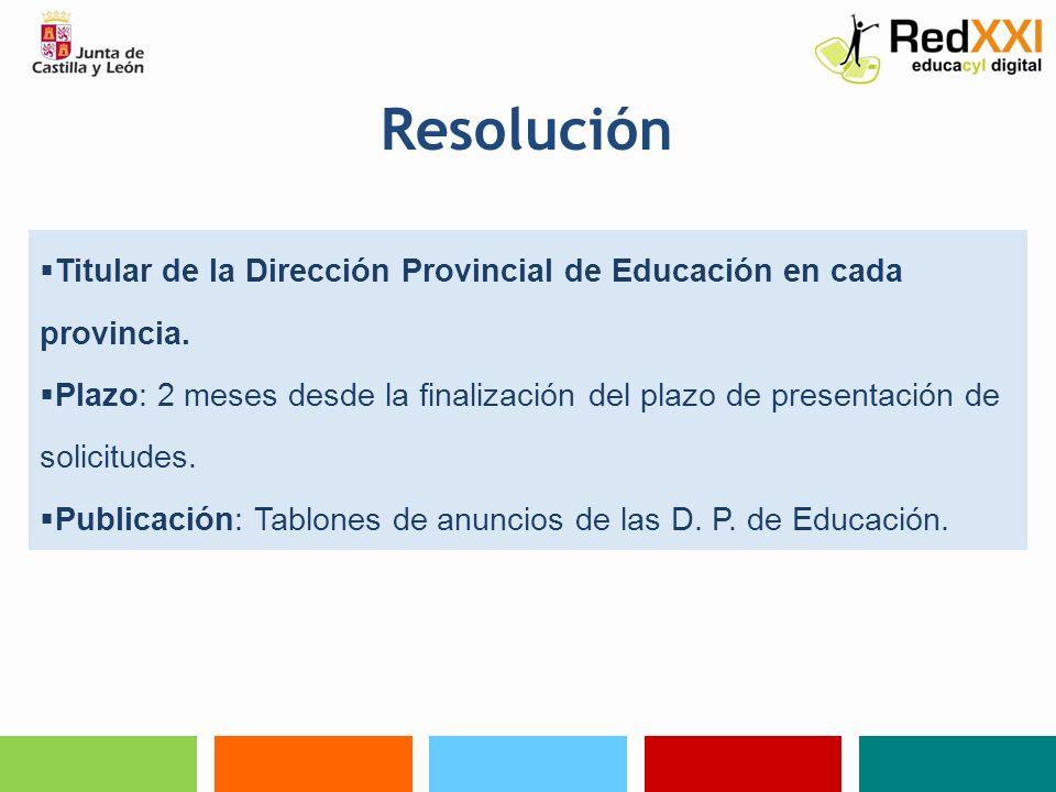 ResoluciónTitular de la Dirección Provincial de Educación en cada provincia.