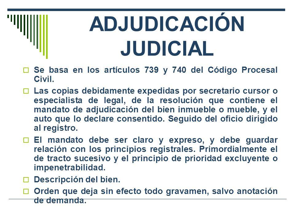 ADJUDICACIÓN JUDICIAL