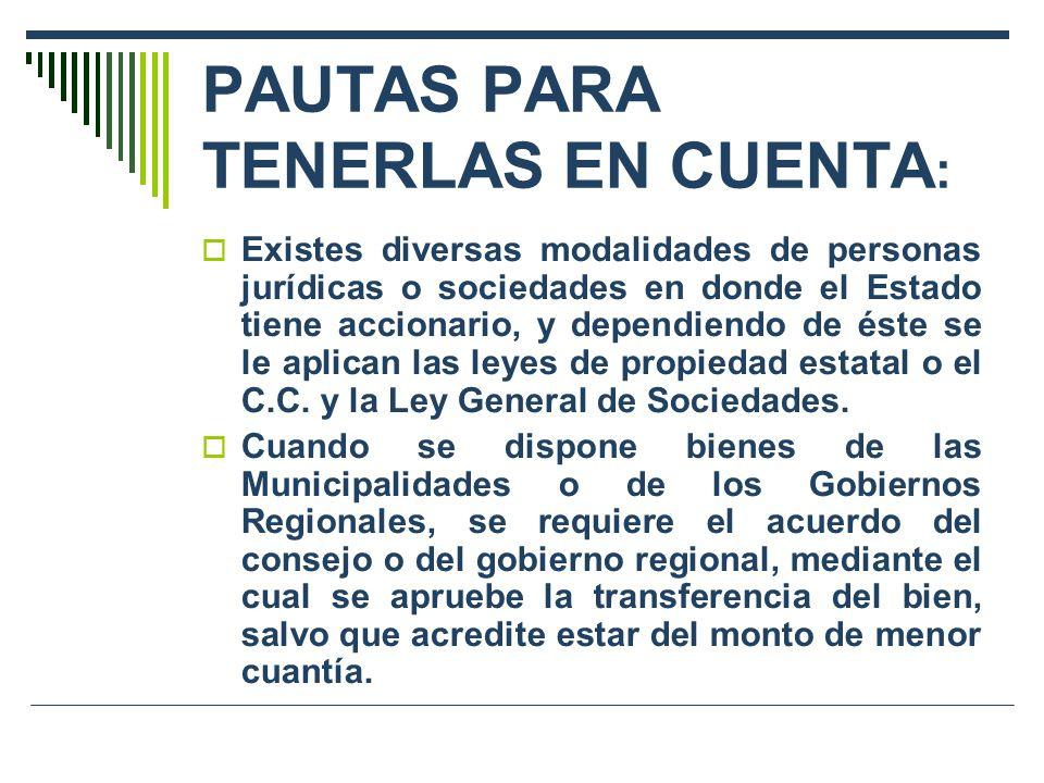 PAUTAS PARA TENERLAS EN CUENTA: