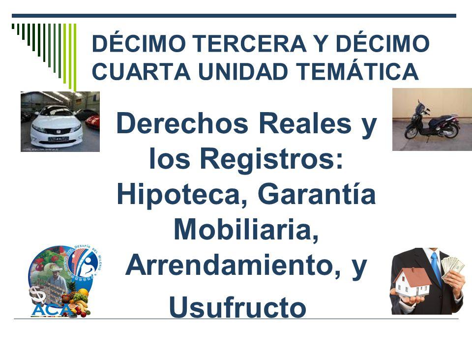 DÉCIMO TERCERA Y DÉCIMO CUARTA UNIDAD TEMÁTICA