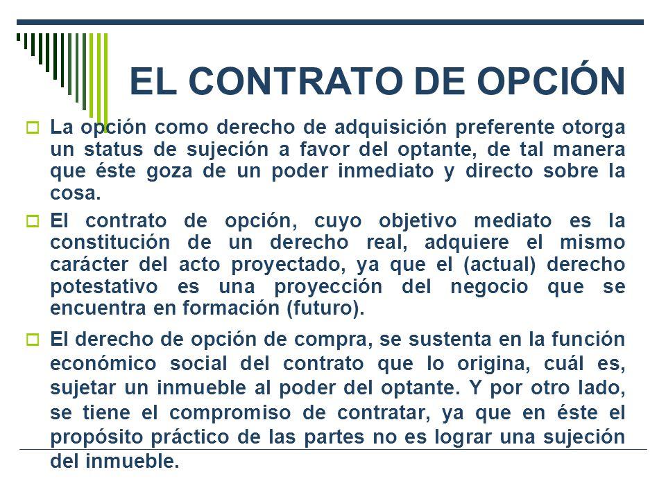 EL CONTRATO DE OPCIÓN