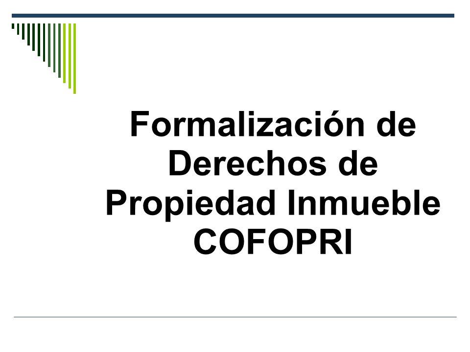 Formalización de Derechos de Propiedad Inmueble COFOPRI