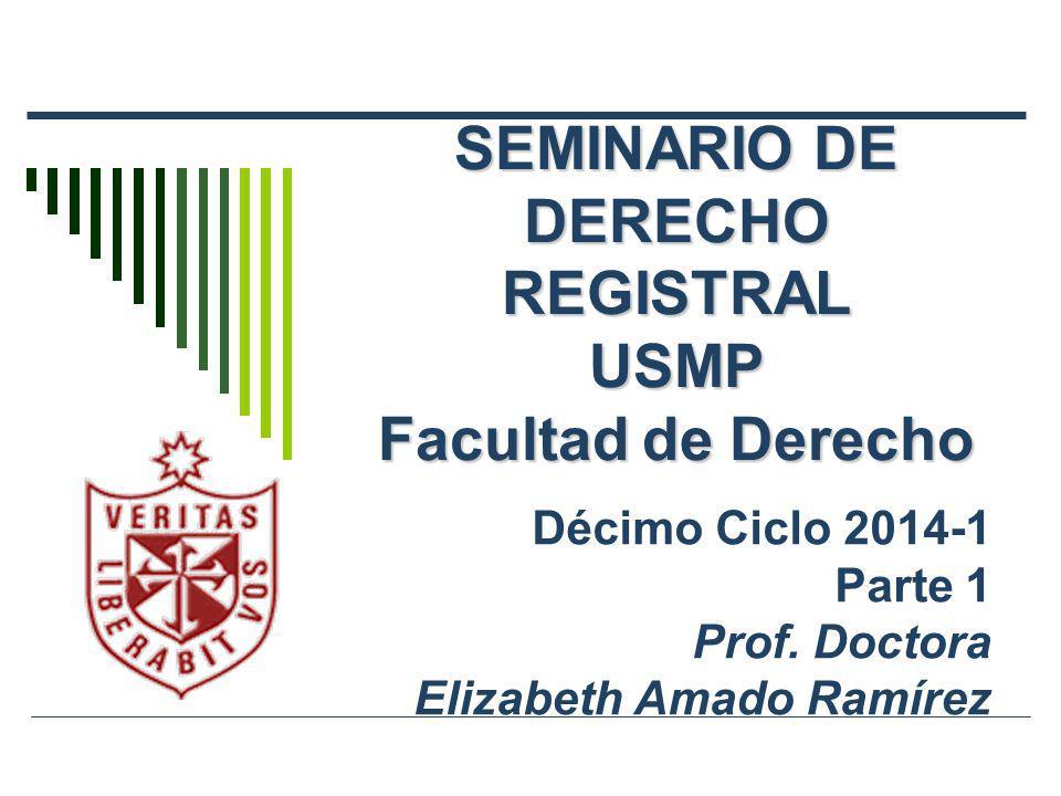 SEMINARIO DE DERECHO REGISTRAL USMP Facultad de Derecho